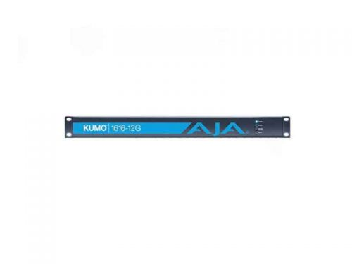 AJA KUMO 1616-12G (KUMO161612G) 16x16 Compact 12G-SDI Router with 1 Power Supply