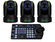 BirdDog 3x P4K PTZ Cameras 1x Free PTZ Keyboard