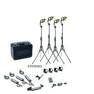 Dedolight 4 Head Bi Colour 40W LED Hard Case Kit