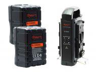 Dynacore 2x D-200MS Rugged Mini V-Mount Batteries & FREE Dynacore D-2SN V-Mount Battery Charger