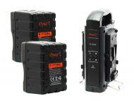 Dynacore 2x D-310MS Rugged Mini V-Mount Batteries & FREE Dynacore D-2SN V-Mount Battery Charger