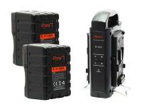 Dynacore 2x D-310MS Rugged Mini V-Mount Batteries & Dynacore D-2SN V-Mount Battery Charger