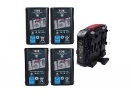 IDX DUO-C150 Li-ion V-Mount Battery and VL-4X Charger Kit