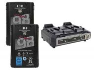 IDX 2 x ENDURA DUO-C98 Batteries, 1 x VL-2000S Simultaneous Charger