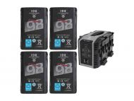IDX 4x ENDURA DUO-C98 Batteries and IDX VL-4X Charger Kit