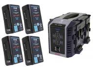 IDX EH-10/4Se 4 x E-HL10DS Batteries, 1 x VL-4Se Simultaneous Charger