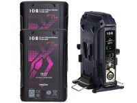 IDX EC-H90/2X 2 x CUE-H90 Batteries 1 x VL-2X Charger with 4 pin XLR DC Output (36W)