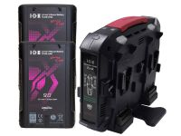 IDX EC-H90/4X2 2 x CUE-H90 Batteries 1 x VL-4X Charger with 4 pin XLR DC output (90W)