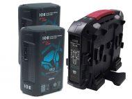 IDX EC-H180/4X2 2 x CUE-H180 Batteries 1 x VL-4X Charger with 4 pin XLR DC output (90W)