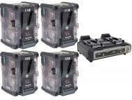 IDX 4x Transparent IPL-150T Batteries and get a Free 2 Channel 8 Way Charger VL2000S
