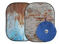 Lastolite Urban Collapsible 1.5 x 2.1m Rusty Metal/Plaster Wall Background
