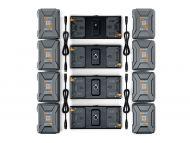 Litepanels 8x 26V 240Wh Battery set for Quad Array Light Kit - Gold Mount Plus
