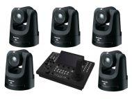 5x Panasonic AW-UE100K PTZ Camera 1x Free Panasonic 1 AW-RP150GJ Camera Control