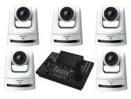 5x Panasonic AW-UE100W PTZ Camera 1x Free Panasonic 1 AW-RP150GJ Camera Control