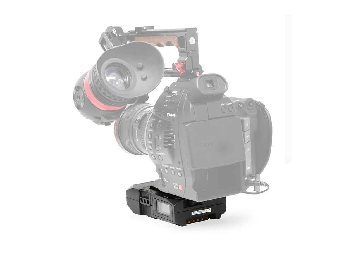 CoreSWX PowerBase EDGE Small Form Cine V-Mount Battery Pack 49wh 14 8v with  Canon C100/C300 Battery Cable