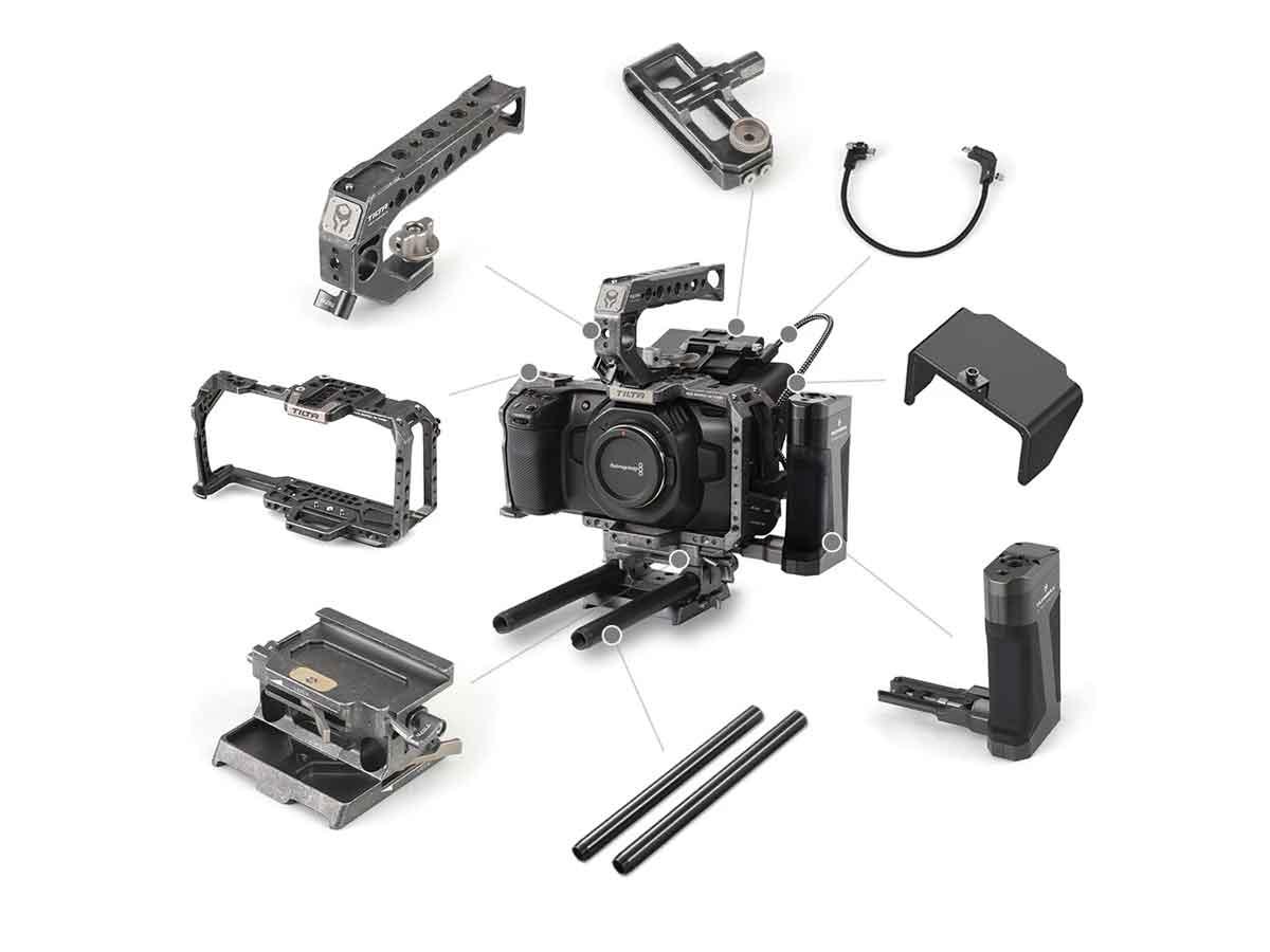 Buy Tilta Camera Cage Kit For Blackmagic Pocket Cinema Camera 4k 6k Tactical Grey Production Gear Ltd Broadcast And Professional Cameras Accessories